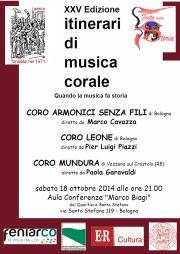 "XXV Rassegna ""Itinerari di Musica Corale"""
